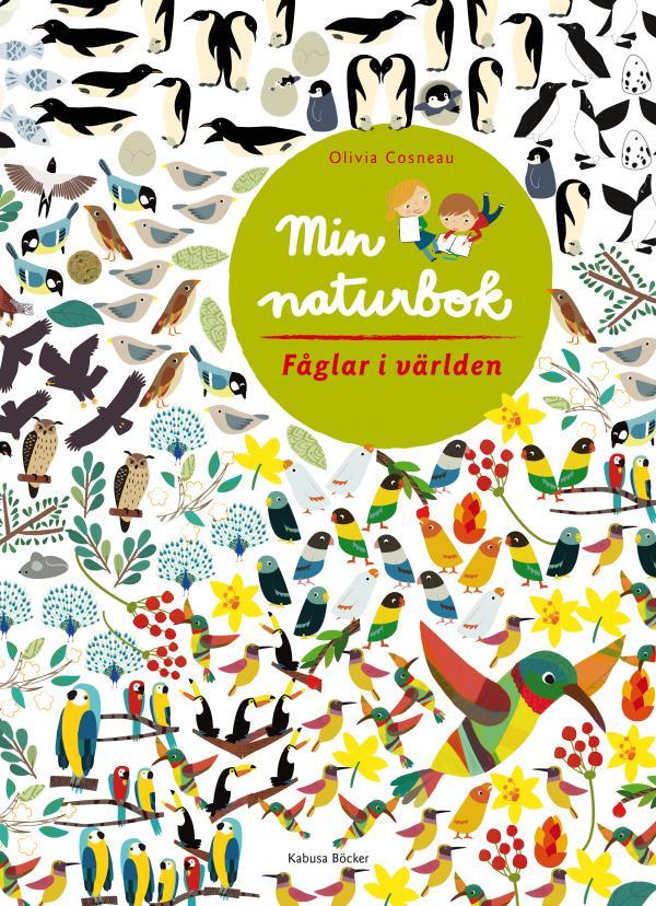 Pysselbok Min naturbok Fåglar i världen